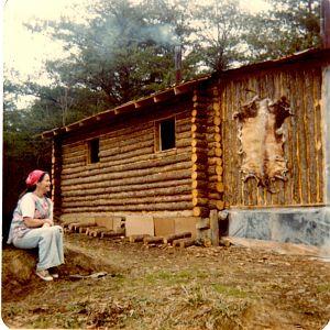 Mom and cabin.jpg